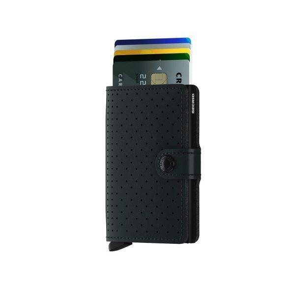 SECRID Miniwallet Perforated Black 1