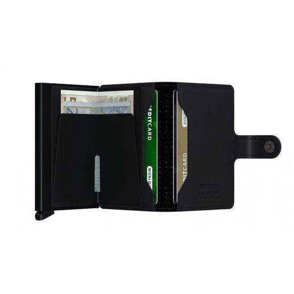 SECRID Miniwallet Perforated Black 2