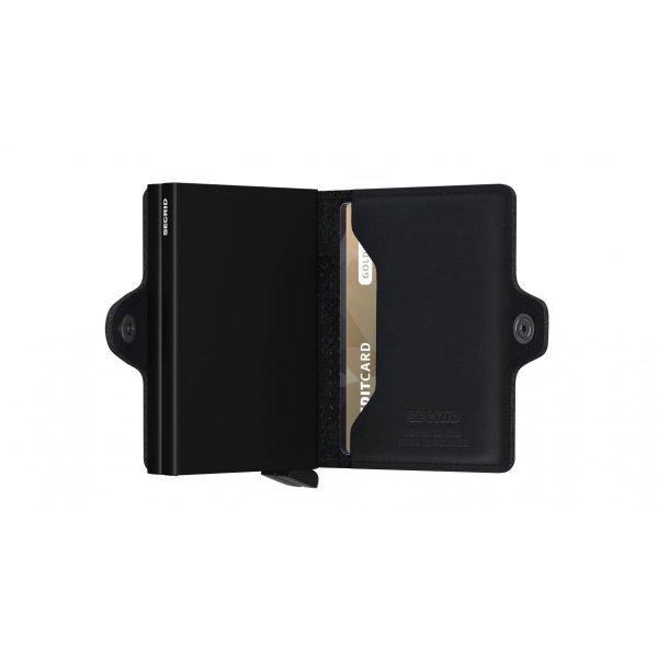 SECRID Twinwallet Perforated Black aperto