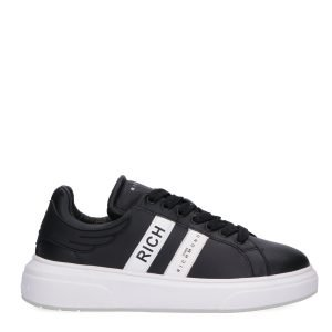 Sneakers Basse John Richmond nera lato 2