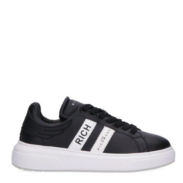 Sneakers Basse John Richmond nera lato 2