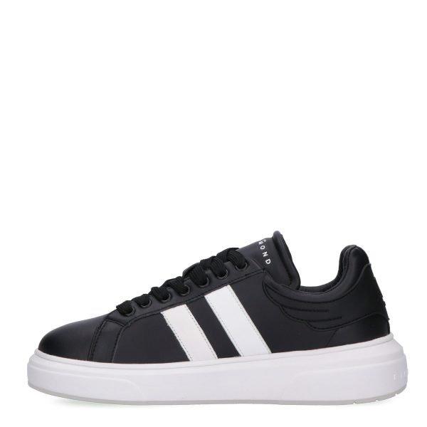 Sneakers Basse John Richmond nera lato 1