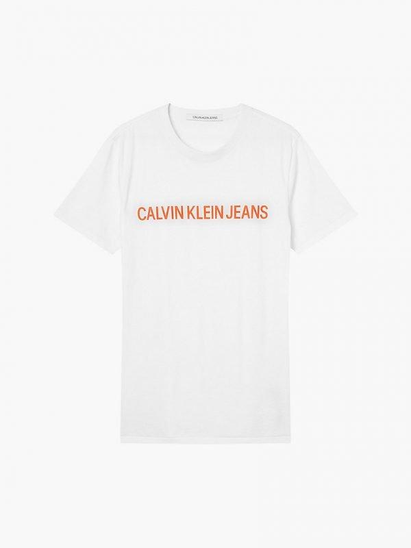 T-SHIRT Calvin Klein bianca davanti 4