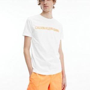 T-SHIRT Calvin Klein bianca davanti 3