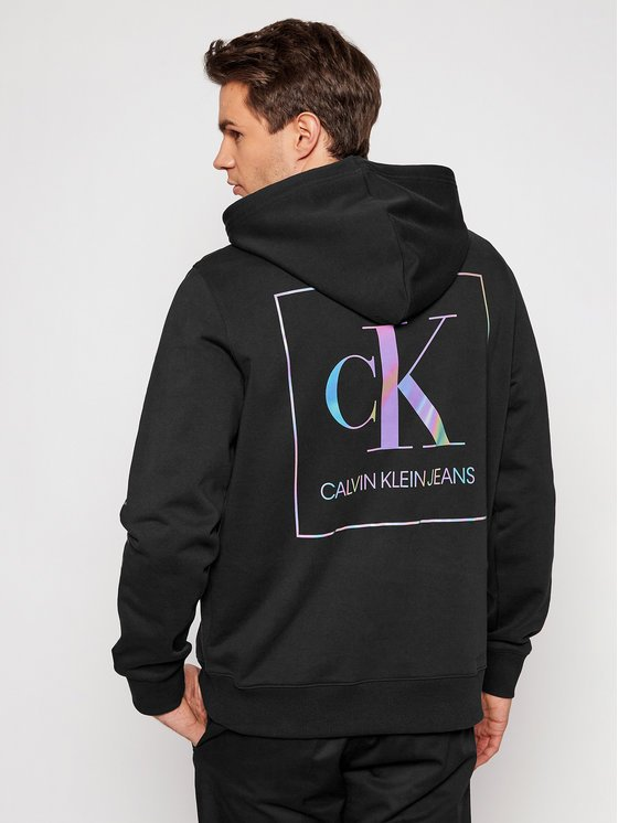 felpa Calvin Klein nera dietro