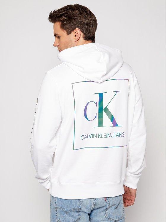 felpa Calvin Klein bianca dietro
