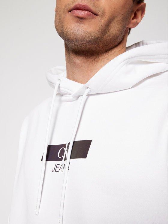 felpa Calvin Klein bianca frontale