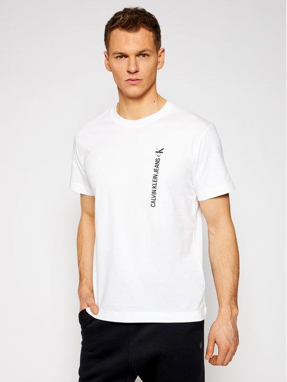 t-shirt Calvin Klein bianca davanti