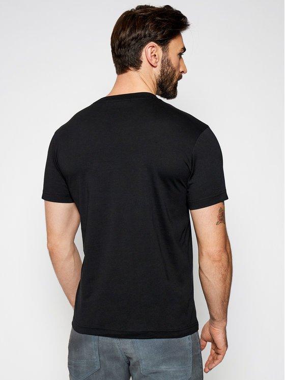 T-shirt Calvin Klein nero dietro