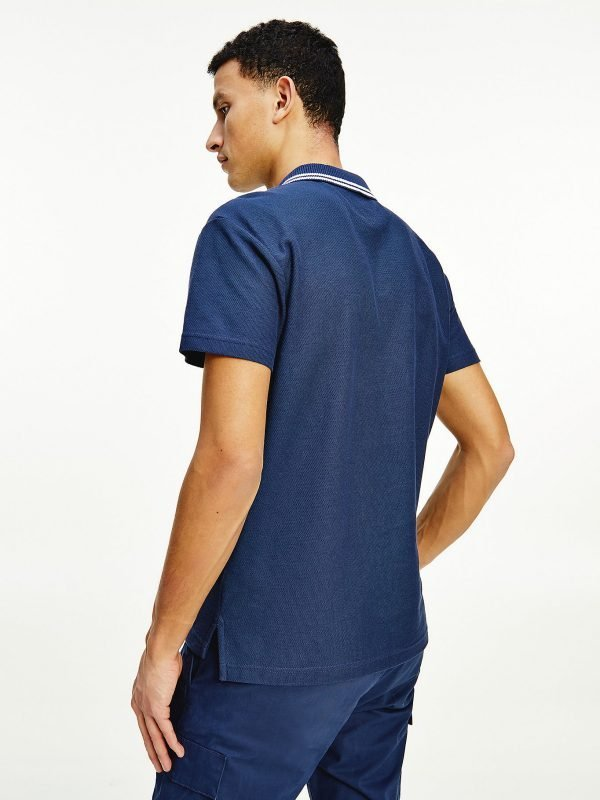 POLO UOMO TOMMY JEANS A RIGHE ORIZZONTALI DIETRO