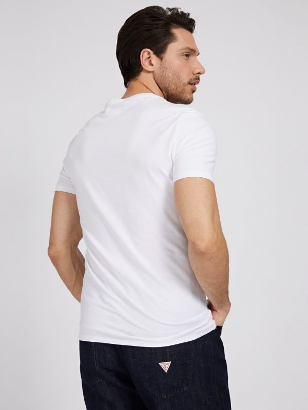T-SHIRT GUESS LOGO FRONTALE DIETRO