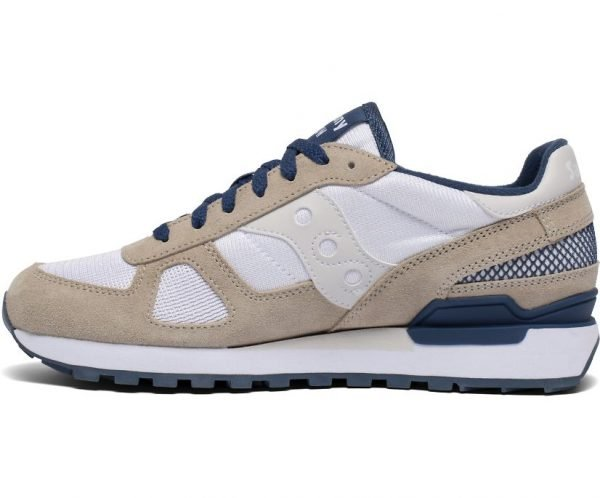 SNEAKERS UOMO SAUCONY SHADOW BIANCHE LATERALE