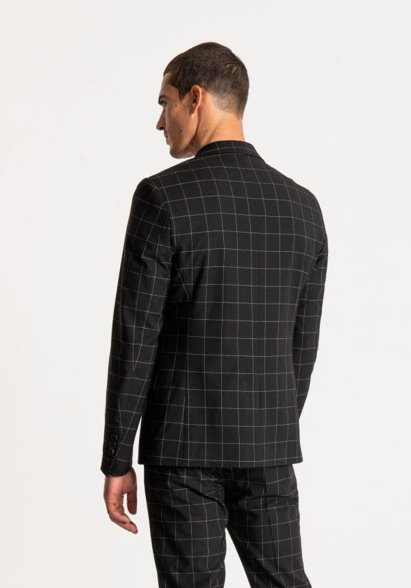 giacca uomo antony morato slim fit a quadri dietro 2