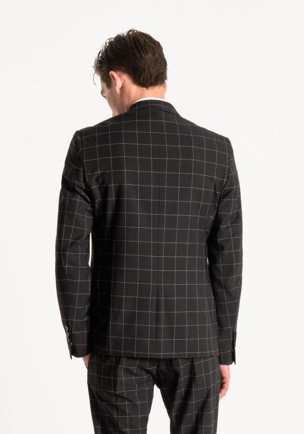 giacca uomo antony morato slim fit a quadri dietro