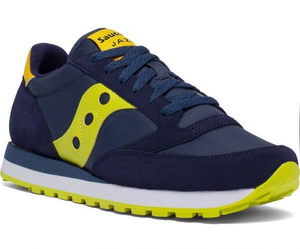 Sneakers Saucony Jazz Original Navy Yellow frontale