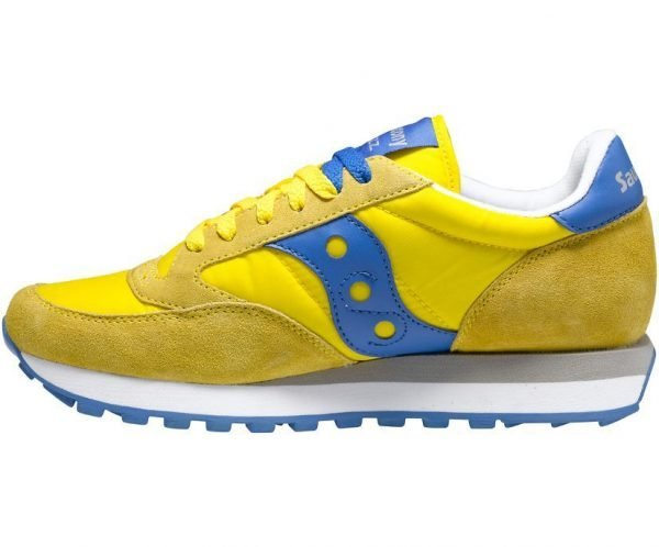 Sneakers Saucony Jazz Original Yellow Blue laterale