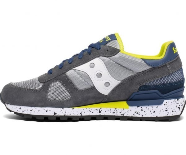 Sneakers Saucony Originals Shadow Grey Blue Yellow laterale