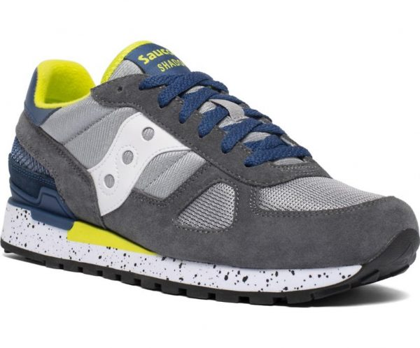 Sneakers Saucony Originals Shadow Grey Blue Yellow davanti