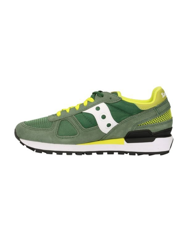 Sneakers Saucony Originals Shadow Green White Yellow laterale