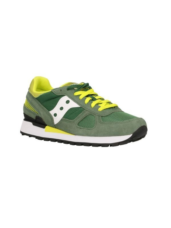 Sneakers Saucony Originals Shadow Green White Yellow davanti