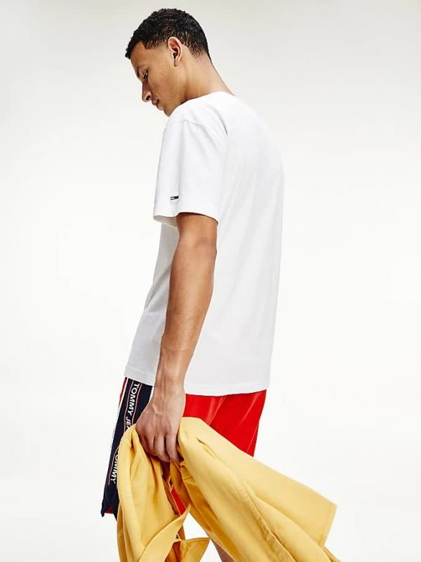 T-SHIRT UOMO TOMMY JEANS LOGO VERTICALE DIETRO