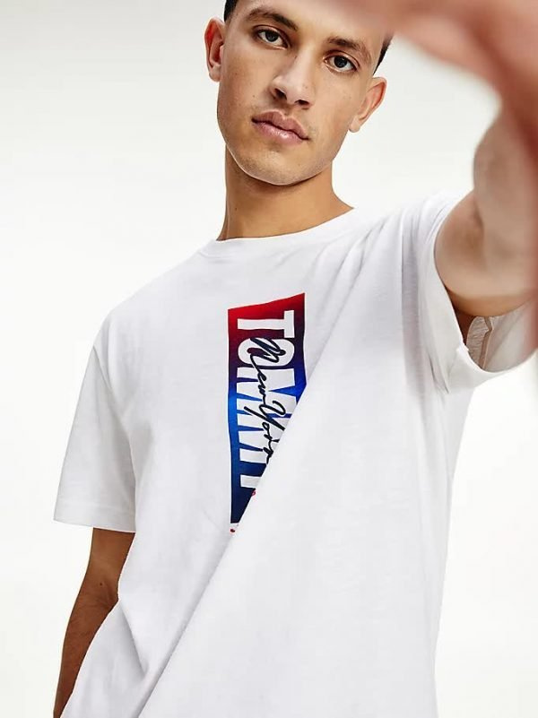 T-SHIRT UOMO TOMMY JEANS LOGO VERTICALE PRIMO PIANO