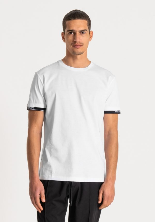 t-shirt uomo antony morato slim fit cotone con logo