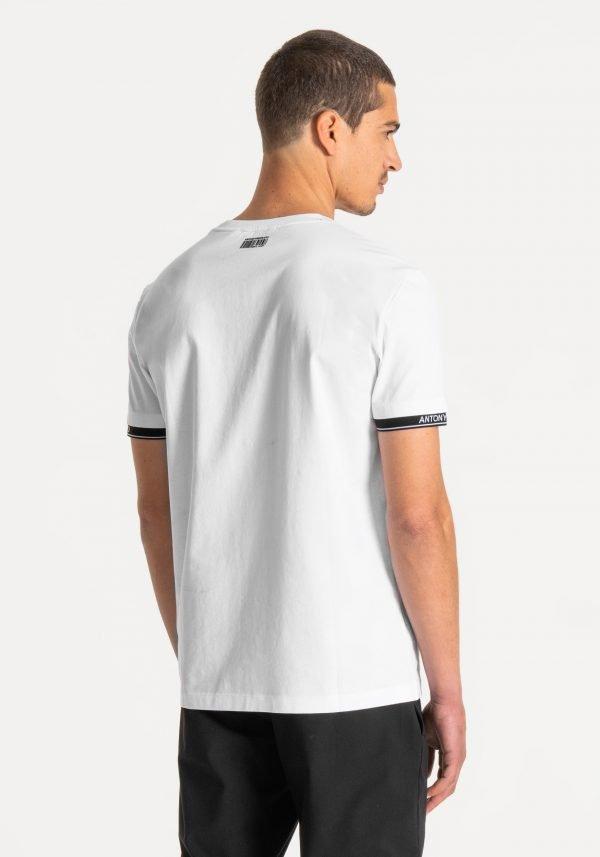 t-shirt uomo antony morato slim fit cotone con logo dietro
