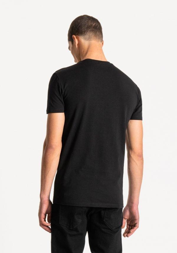 t-shirt uomo antony morato super slim fit dietro