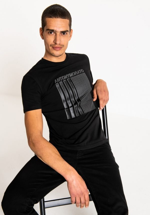 t-shirt uomo antony morato super slim fit davanti